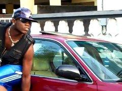huge jamaican vidz bulge in  super public