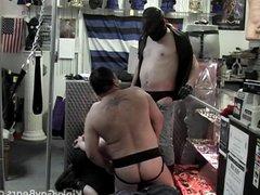 Two bear vidz slaves suck  super off their master