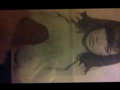 Sophie Howard vidz cum tribute  super 8 on her big boobs