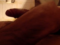 play with vidz my cock  super in bathroom