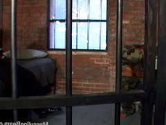 Military bullies vidz fuck and  super suck in the detention house