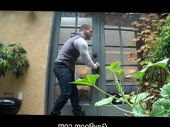 GayRoom Hot vidz neighbor creeps  super in for a rainy day fuck