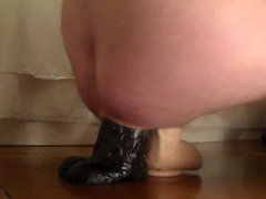 Large cyclops vidz and Holmes  super dildo in deep..buttplug