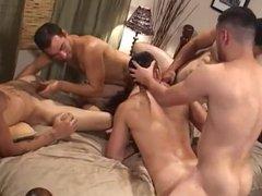 Four horny vidz Latinos cumming  super inside his insatiable ass.