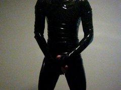 Me jerking vidz in thight  super shiny latex