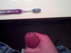 Use FamFriend's vidz Wife's Panties-Cum  super On Her Toothbrush - Pt2