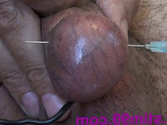 Electro Dick vidz Pierced Eggs.  super Cock and Nuts Electric torture