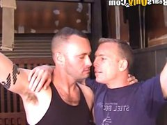 Muscular And vidz Tattooed Older  super Men Fiery Threesome