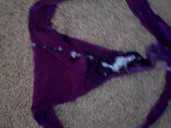 cum on vidz nieces purple  super thong