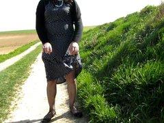under my vidz polka dot  super dress