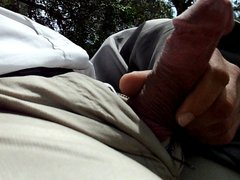 public jerking vidz and cum  super in the park part 3