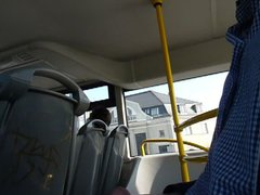 Me wanking vidz in public  super on bus! (1st time)