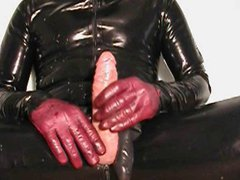 Sperm explosion vidz with purple  super leather gloves (old one)