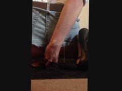 Huge anal vidz dildo play  super in stockings and heels
