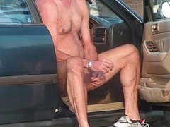 Str8 dude vidz jacking off  super in his car