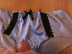 Cumming on vidz wife's panties  super 3