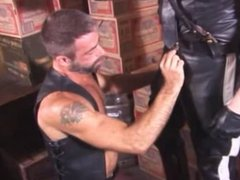 Smoking Leather vidz Cop and  super His Buddy