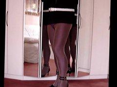 Nadine CD vidz lycra fishnet  super and heels