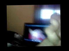 Masturbates while vidz watching her  super video