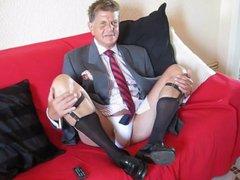 French daddy vidz businessman jerking  super off