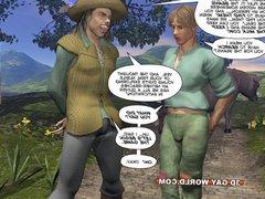 3DGayWorld presents vidz JACK AND  super THE BEANSTALK Gay Comic Version
