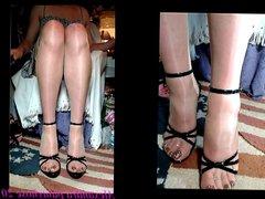 my sexy vidz sandals pleaser  super demonia with natural pantyhose