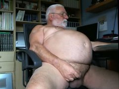 Big Belly vidz Grandpa Jerks  super Off for the Camera