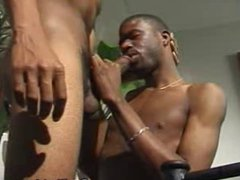 Black Man vidz Sucks On  super Fellow Mans Big Cock