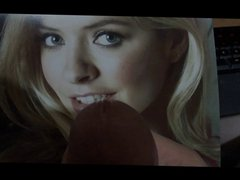 Gorgeous Holly vidz Willoughby Cumshot  super Tribute