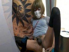 Asian true vidz anal orgasm  super slowmo