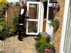 Alison Thighbootboy vidz wanking in  super the garden