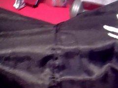 Sagging in vidz black dragon  super boxers silky shiny