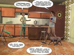 CUMING OUT vidz AMERICAN STYLE  super 3D Gay Cartoon Animated Comics