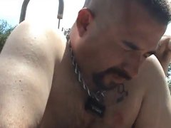 Army Daddy vidz punishes Slave  super outside
