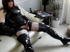 PVC and vidz Crotch Boots  super wank