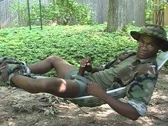 Ebony soldiers vidz masturbating
