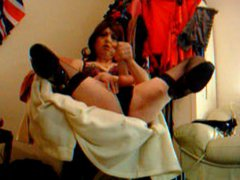 bra and vidz knickers frantic  super tranny wanker