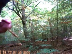 Flashing my vidz cock the  super woods
