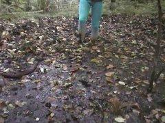 blue tights vidz in the  super mud