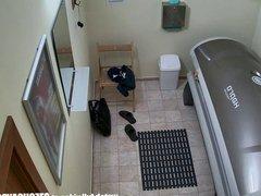 Hidden spy vidz cameras in  super public solarium