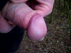 Uncut Cock vidz Outdoor Wanking  super and Cumming