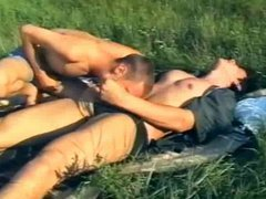 Hot young vidz gay campers  super caught porking at the field
