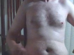 Hairy chubby vidz bear guy  super gets off in jockstrap