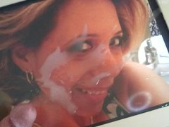 Cum tribute vidz on picture  super of my friend's young grandma