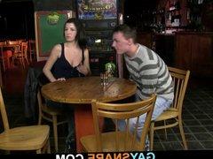 Chick watches vidz gay barman  super drilling hetero's butt