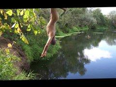 Hanged at vidz the river