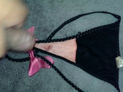 second cumshot vidz on nieces  super sexy black thong panty