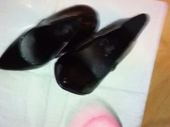 Black shiny vidz pumps- Down  super the toes