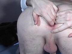 Fucking my vidz asshole with  super a big eggplant, great gape 05.2012
