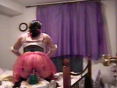 crossdresser riding vidz toy